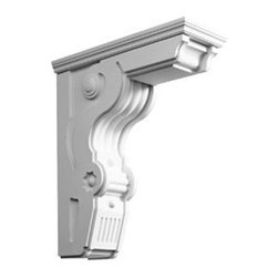 "Ekena Millwork - 8 1/2""W x 22 1/2""D x 26""H Large Giana Corbel - 8 1/2""W x 22 1/2""D x 26""H Large Giana Corbel. These corbels are truly unique in design and function. Primarily used in decorative applications urethane corbels can make a dramatic difference in kitchens, bathrooms, entryways, fireplace surrounds, and more. This material is also perfect for exterior applications. It will not rot or crack, and is impervious to insect manifestations. It comes to you factory primed and ready for your paint, faux finish, gel stain, marbleizing and more. With these corbels, you are only limited by your imagination."