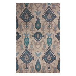 """nuLOOM - Transitional 7' 6""""x9' 6"""" Beige Hand Hooked Area Rug Ikat VE03 - Made from the finest materials in the world and with the uttermost care, our rugs are a great addition to your home."""