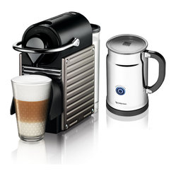 Nespresso Pixie C60 Electric Titan/Aero+ Bundle