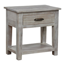 Kosas Collections - Cosmo Drawer End Table - A beautiful,fresh clean look combined with graceful lines creates the perfect blend for any home whether modern or traditional. This rustic looking end table would look fantastic next to a bed or couch.