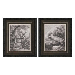 Paragon - Woodland Deer I PK/2 - Framed Art - Each product is custom made upon order so there might be small variations from the picture displayed. No two pieces are exactly alike.