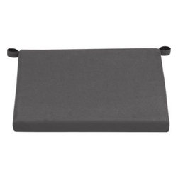 Alfresco Sunbrella® Charcoal Lounge Chair Cushion - Add extra comfort to Alfresco lounge chair seating with fade-, water- and mildew-resistant Sunbrella® acrylic cushions in chic charcoal.