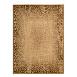 "Nourison - Nourison Radiant Impressions LK06 (Beige) 5'6"" x 7'5"" Rug - Made from the finest New Zealand wool, these woven rugs present vibrant colors in an assortment of patterns with a modern twist. Each distinctive rug offers a variety of styling options for any room in the home."