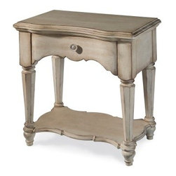 A.R.T. Furniture Belmar 1 Drawer Nightstand - Antique Linen - The amicable design of the A.R.T. Furniture Belmar 1 Drawer Nightstand - Antique Linen is as easy to live with as it is beautiful. The one-drawer design doesn't take up a lot of space, yet provides the perfect place to set a lamp and display favorite accessories. One drawer ensures you'll have needed items close at hand, while the natural look of the antique linen finish adds an airy quality to the whole room. Part of the Belmar collection.About A.R.T. FurnitureA.R.T. Furniture is quality furniture inspired by architecture and design. A.R.T. Furniture pieces are top-quality and are loaded with practical and luxurious features. Extra steps are taken to ensure quality, beauty, and durability. English dovetailing, dust-proofing on all cases with wood guides, and wood-on-wood drawer guides show fine craftsmanship. A UV finishing process on the drawer interiors provides a smooth, durable finish and snag-free storage. All bottom drawers of bedroom storage pieces are lined with aromatic red cedar. Jewelry trays in bedroom pieces and silverware liners in dining pieces keep items protected. Any media pieces feature sophisticated wire management and ventilation solutions.