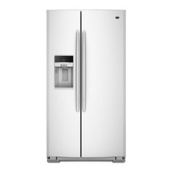 """Maytag - MSB27C2XAW 36"""" 27 cu. ft. Capacity Side-By-Side Refrigerator With Bright White L - Shopping is a breeze when all your groceries are going to fit The 27 cu ft capacity helps ensure everything on your list has a place in the fridge The Store-N-Door Plus system makes enough room so the entire top freezer shelf is free And when you wan..."""