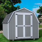 Little Cottage - Little Cottage 12 x 16 ft. Value Gambrel Barn Precut Storage Shed - 4 ft. Barn M - Shop for Sheds and Storage from Hayneedle.com! Additional Features Interior measures 15.4L x 9.4H feet Door measures 5W x 6H feet Double door for easy entry and exit Swivel door latch 4 ft. high sidewalls Features aluminum corner trim Includes all fasteners Roof design provides extra headroom Beautiful and charming the Little Cottage 12 x 16 ft. Value Gambrel Barn Precut Shed Kit - 4 ft. Barn features a specially designed roof to allow for extra headroom and looks great in any backyard. Ideal for storing equipment this shed comes precut and ready to assemble. The trim and siding are 98% primed while the Smartside siding also includes a 5 year 50 warranty. The double door makes moving equipment in and out of the shed easy while the swivel door latch is easy to maneuver. About The Little Cottage CompanyNestled in the heart of Ohio's Amish country The Little Cottage Company resides in a quaint slow-paced setting where old-fashioned craftsmanship and attention to detail have never gone out of style. Their experienced carpenters and skilled designers take great pride in creating top-quality pre-built models and Do-It-Yourself kits of playhouses storage sheds and more.