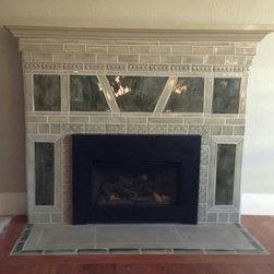 Sage Green fireplace surround - Pistrucci Artworks