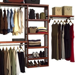 John Louis Home Premier Closet System, Red Mahogany - There are many sources for closet organization right now, so you can pick and choose price points and DIY it too.