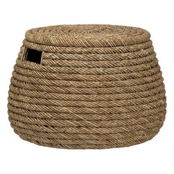 Roll Weave Storage Basket/Ottoman - I'm such a fan of baskets, especially those made of natural materials. They add texture to any space and are great for storage and organization.