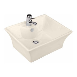 Renovators Supply - Vessel Sinks Bone Newcastle Vessel Sink | 10816 - Vessel Sinks Above Counter: Made of Grade A vitreous China these sinks easily endure daily wear and tear. Our protective RENO-GLOSS finish resists common household stains and makes it an EASY CLEAN wipe-off surface. Ergonomic and elegant easy reach design reduces daily strain placed on your body. SPACE-SAVING design maximizes limited bathroom space. Easy, above counter installation let's you select from many faucet styles and countertop designs, sold separately. Measures 19 1/4 inch W x 14 7/8 inch projection