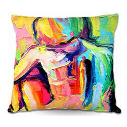 DiaNoche Designs - Pillow Linen - Femme 183 - Add a little texture and style to your decor with our Woven Linen throw pillows. The material has a smooth boxy weave and each pillow is machine loomed, then printed and sewn in the USA.  100% smooth poly with cushy supportive pillow insert with a hidden zip closure. Dye Sublimation printing adheres the ink to the material for long life and durability. Double Sided Print, machine wash upon arrival for maximum softness. Product may vary slightly from image.