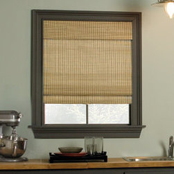 Levolor - Levolor Woven Wood Shades - Bamboo - Draw the beauty of nature into your home with the distinctive look of Levolor woven wood shades.  The Bamboo Essence and Providence selections feature alternating bamboo and matchstick reeds.