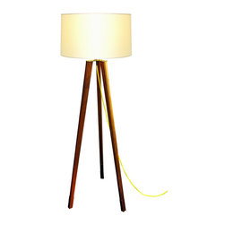 "Moderncre8ve - Midcentury Modern Tripod Lamp - Featured on the TV channel DIY Network, Amish Renogrades ""Los Angeles"""