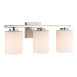 Dolan Designs - Dolan Designs 3883-09 Chloe 3 Light Bathroom Vanity Lights in Satin Nickel - This 3 light Bath Bar from the Chloe collection by Dolan Designs will enhance your home with a perfect mix of form and function. The features include a Satin Nickel finish applied by experts. This item qualifies for free shipping!