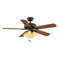 Hampton Bay - Indoor Ceiling Fans: Hampton Bay Lyndhurst 52 in. Indoor Oil Rubbed Bronze Ceili - Shop for Lighting & Fans at The Home Depot. The Hampton Bay Lyndhurst 52 in. Oil-Rubbed Bronze Ceiling Fan provides quiet, 3-speed, reversible operation for year-round comfort and energy efficiency. Treated with an elegant oil-rubbed bronze finish, this durable ceiling fan has a 174 RPM motor that delivers powerful yet peaceful operation. The fan's sturdy MDF blades are finished in light walnut and oak for a warm, beautiful look. A light kit is included for welcoming illumination.