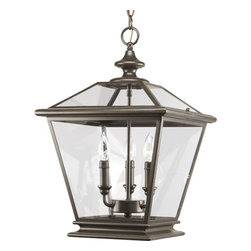 Thomasville Lighting - Thomasville Lighting P3903-20 Crestwood 3 Light Foyer Pendant - Thomasville Lighting P3903-20 Three Light Crestwood Foyer PendantA beautiful and versatile fixture that can be used in both indoor and outdoor covered settings or porches as well as in foyers and entryways, this timeless three light foyer pendant combines the essence of traditional gas lanterns with updated styling for a uniquely stylish look. Clear beveled glass panels combine with a rustic Antique Bronze finish for an all around beautiful package.With traditional coach lantern style and clear beveled glass panels, these fixtures are damp location listed for interior and covered exterior applications. Available in Antique Nickel and Antique Bronze finishes, Crestwood lanterns can be used in traditional applications, such as in outdoor covered settings, but also are ideal for use in foyers and entryways, for a casual American Urban style.Thomasville Lighting P3903-20 Features: