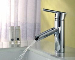 JollyHome - JollyHome Modern Waterfall Bathroom Sink Faucet Chrome Finish - Waterfall bathroom sink faucet.Contemporary style and chrome finish .One hole one handle.Complete parts and all install fittings are included