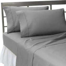 SCALA - 300TC 100% Egyptian Cotton Solid Elephant Grey Queen Size Flat Sheet + 2 Pillow - Redefine your everyday elegance with these luxuriously super soft Flat Sheet . This is 100% Egyptian Cotton Superior quality Flat Sheet that are truly worthy of a classy and elegant  Size 1 Flat Sheet 90 Inch(length) X 102 Inch (width).2 Pillowcase 20 Inch (length) X 30 Inch (width).