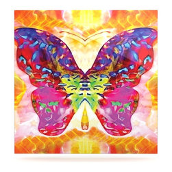 "Kess InHouse - Anne LaBrie ""Butterfly Spirit"" Pink Yellow Metal Luxe Panel (8"" x 8"") - Our luxe KESS InHouse art panels are the perfect addition to your super fab living room, dining room, bedroom or bathroom. Heck, we have customers that have them in their sunrooms. These items are the art equivalent to flat screens. They offer a bright splash of color in a sleek and elegant way. They are available in square and rectangle sizes. Comes with a shadow mount for an even sleeker finish. By infusing the dyes of the artwork directly onto specially coated metal panels, the artwork is extremely durable and will showcase the exceptional detail. Use them together to make large art installations or showcase them individually. Our KESS InHouse Art Panels will jump off your walls. We can't wait to see what our interior design savvy clients will come up with next."
