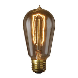 Bulbrite - Bulbrite 40W Hairpin Filament Incandescent Edison Light Bulb - 6 pk. Multicolor - Shop for Light bulbs from Hayneedle.com! Get the look with this Bulbrite 40W Hairpin Filament Incandescent Edison Light Bulb - 6 pk. because you know lighting can enhance the vibe. This nostalgic hairpin filament Edison bulb has been meticulously crafted to preserve every classic detail of the original. Recognized for their antique finish defined steeple and intricate filament design these bulbs are ideal for any transparent light fixture indoors or out. Comes in a six-pack.About BulbriteBulbrite is a family-owned company started in 1971 and based in Moonachie New Jersey. Bulbrite is renowned for their commitment to innovation education and service. They are a leading manufacturer and supplier of innovative energy-efficient light source solutions. Bulbrite is an award-winning company. Most recently their president Cathy Choi received the 2010 Residential Lighting Industry Leadership Award and the Bulbrite Swytch LED Desk Lamp received the 2010 Home Furnishing News Award of Excellence. They have introduced award-winning products and offer an extensive line of light bulbs including LEDs HID compact fluorescents fluorescents halogens krypton/xenon incandescent bulbs and specialty lamps. Bulbrite is an active member of the ZHAGA the American Lighting Association a silver sustaining member of the Illuminating Engineering Society of North American (IESNA) an Energy Star Partner a Lighting Facts LED Product Partner a member of LUMEN Coalition and a member of the International Dark Sky Association.