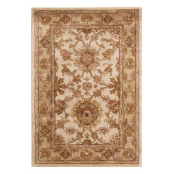 """Nourison - Nourison Jaipur JA27 (Ivory) 9'6"""" x 13'6"""" Rug - The Nourison Jaipur collection features a distinctive assortment of traditional designs, handmade from the finest 100% premium quality wool. Nourison's own unique herbal-wash process creates the elegant look of a priceless antique. With their lavish pile and the silk-like sheen of their lanolin-rich wool, Jaipur Collection rugs will bring a dramatic fashion accent to any room setting."""