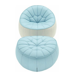 Ottoman Armchair - If you like the idea of the bean bag chair but are looking to up the ante, these pieces by ligne roset certainly exude chic elegance.