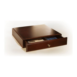 Empire Office Solutions - Empire Office Solutions Stack & Style Desk Organizers Supply Drawer in Mahogany - Organize small office supplies and stationery with this sturdy wooden drawer. Mix and match the drawer with other stack and style desk accessories to create your own custom desk set. The drawer features routed edges to stack securely with the entire stack and style collection of paper trays, cubes, reference organizers and bridges.