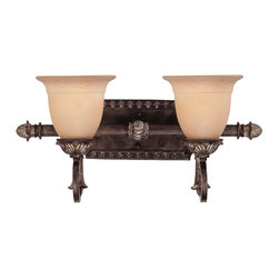 Savoy House - Savoy House 8-749-2-241 Grenada 2 Light Bath Bar - Grenada features a delicate filigree design in a Moroccan Bronze finish with cream textured glass.