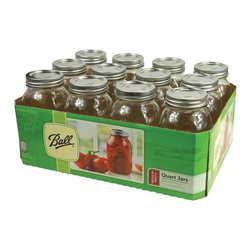 Ball 32 oz. Quart Size Mason Canning Jars - This set of 32 oz. Quart Ball. Glass Mason Canning Jars are perfect for canning and preserving your favorites including fruits vegetables salsas and sauces. Ball. canning jars have been made in the US for more than 125 yers.