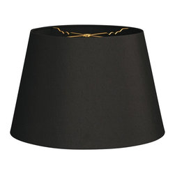 """Royal Designs, Inc"" - Tapered Shallow Drum Hardback Lampshade - ""This Tapered Shallow Drum Hardback Lampshade - Black 8 x 12 x 8.5 is a part of Royal Designs, Inc. Timeless Hardback Lampshade Collection and is perfect for anyone who is looking for a simple yet stunning lampshade. Royal Designs has been in the lampshade business since 1993 with their multiple shade lines that exemplify handcrafted quality and value."