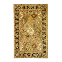 """Safavieh - Persian Legend Green/Black Area Rug PL510A - 8'3"""" x 11' - Inspired by the legendary designs of Persia's most prestigious rug-weaving capitals, these extraordinary reproductions recreate some of the most prized antiques in Safavieh's archival collection. Intricate Tabriz, Lavar Kerman and Isfahan hand-knotted motifs are remarkably adapted to these hand-tufted rugs of incomparable quality. The finest New Zealand wool is chosen to achieve the intricate weave of these carpets. With utmost attention to every detail, Safavieh creates its Persian Legends Collection in India to provide consumers an exquisite yet affordable artisan-crafted look."""