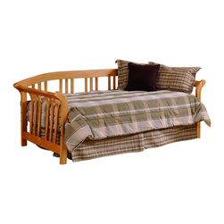 Hillsdale - Dorchester Daybed - The Dorchester is a solid pine sleigh daybed featuring curved slat spindles in the arms and back. This bed is a stylish and comfortable sleeping and seating solution that will work in modern and traditional homes.