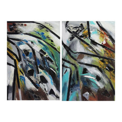 Timeless by Preethi: Original Large Modern Painting - Title: Timeless