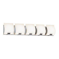 Sonneman - Sonneman 3885.01LED Aquo 5 Light LED Bathroom Wall Sconce - Polished Chrome - Finish: Polished Chrome
