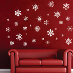 Winter Wonderland Snowflake Removable Wall Decal by Nothin but Vinyl - Snowflake decals are so fun and such an easy way to transform a space.