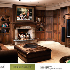 Traditional Family Room by DeWils Custom Cabinetry