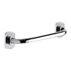 "Gedy - Polished Chrome 11 Inch Grab Bar - Modern style round 10.6"" safety grab bar."