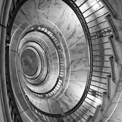 "Spiral Staircase to Chambers, Supreme Court Building 18"" X 24"" Print - Spiral Staircase to Chambers, Supreme Court Building, Washington DC"