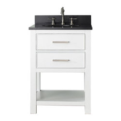 None - Avanity Brooks White 24-inch Vanity Combo - Enhance your bathroom setting with this practical vanity combo that supports a sink and provides extra storage space inside the drawer and on the bottom shelf. Finished in timeless white,this Avanity Brooks accessory is a neutral addition to your decor.