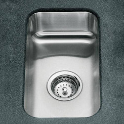 Small Squared Undercounter Stainless Steel Sink - Nice sized undermount sink for a prep sink in an island or butler's pantry.