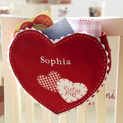 Heart Chair Backer - How fun would it be to hang heart-shaped chair backers for holding Valentine's Day notes?