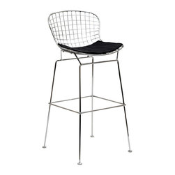Modway Furniture - Modway CAD Barstool in Black - Barstool in Black belongs to CAD Collection by Modway The minimal nature of this CAD Wire Side Chair is an asset for any lover of modern furniture. A simple yet stylish design evoking the height of modern classic design. As comfortable as it is attractive, this is the sort of accent chair that starts conversations. Set Includes: One - CAD Wire Bar Stool Barstool (1)
