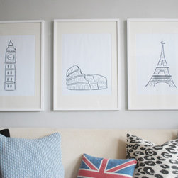 The European Series - These prints are simple and elegant, and they remind of me of places I've been or want to go to.