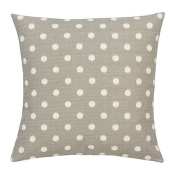 Look Here Jane, LLC - Ikat Dots Grey Pillow Cover - PILLOW COVER