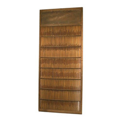 Pre-owned Antique Japanese Summer Door - This antique Japanese summer door offers a great way to add texture and warmth to your space. Introduce this door to your space as a decorative panel on a wall, on its side as a headboard, or install it on tracks for a sliding room divider! In any application it makes a great decorative addition to a room.