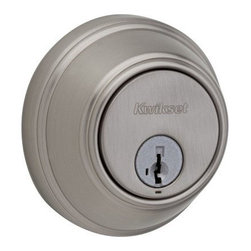 """Kwikset Corporation - Key Control Deadbolt S Nckl Box - Key Control deadbolts features """"SmartKey"""" re-key technology, either cylinder can be re-keyed in seconds, without removing the lock from the door. Top concealed cylinder provides one-key control for the property manager; lower exposed cylinder allows uniqu  e user keys for the tenant. Concealed key control cylinder has a unique patented keyway to provide increased security; rotate the cylinder cap to expose the cylinder for use. User cylinder utilizes the traditional Kwikset key way and keys, gear assembly e  nables both cylinders to lock or retract the deadbolt latch. This design includes 'BumpGuard"""" for improved security against lock bumping. DOOR PREP:  2-1/8"""" Crossbore; 1"""" Edge Bore; 1"""" x 2-1/4"""" Latch Face. DOOR THICKNESS:  1-3/4"""". CYLINDER:    2 SmartKey: 1 standard Kwikset for users, 1 unique patented keyway for 1-Key Control. FACEPLATE:  1"""" x 2-1/4"""". STRIKE:  1-1/4"""" x 3-5/8"""". BOLT:  1"""" throw. ANSI/BHMA:  Grade 2. ADA:  Interior turn piece meets 4.13.9 ADA.      SIGNATURE SERIES - BOXED  Adjustable Latch - Round Corner Latch & Strike  Finish=Satin Nickel"""