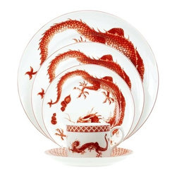 Red Dragon Dinnerware - Mottahedeh's Red Dragon Dinnerware with its lively red dragon is such a bold yet classic choice.
