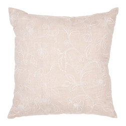 Jaipur - Bruxelle Pillow, Natural Set of 2 - Funky range of pillows in poly dupione use rich jewel tones expressed in a highly textural and fun way. Perfect for a touch of retro glamour in your home.