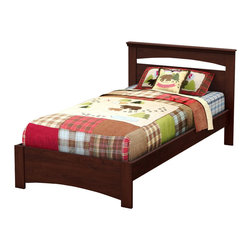 South Shore - South Shore Sweet Morning Twin Bed in Royal Cherry - South Shore - Kids Beds - 3246189 - This sturdy Sweet Morning Twin Bed in Royal Cherry finish has been made to meet your childs needs for years to come. This look which will never go out of style works well with various types of d��cor so you can change your little ones bedroom to suit his or her tastes without having to think about replacing the furniture. It was designed with both maximum safety and a trendy look in mind to give you a well ordered and highly practical room.  It creates a pleasant comfortable space for your child. It doesnt require a box spring and its weight capacity is 250 pounds.