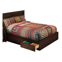 South Shore - South Shore Nathan Full Mates Bed in Havana Finish - South Shore - Beds - 3439211 - Make the most of your available space with the practical South Shore Nathan Full Mate's Bed in a rich Havana finish. It features three drawers underneath the bed for storing clothing, toys and other items.